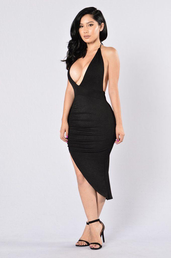 Try And Keep Up Dress - Black   Fashion Nova