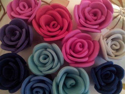 ✿ ❀Маленькие розы из фоамирана самый легкий способ✿ ❀ - AgaClip - Make Your Video Clips