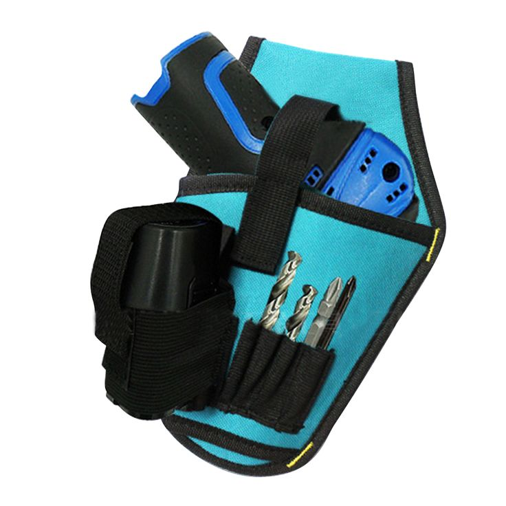 Professional Blue Electric Tool Bag Instrument Case for Electrician Belt Pouch Canvas Part Tools Storage Package Tape Buckle Bag