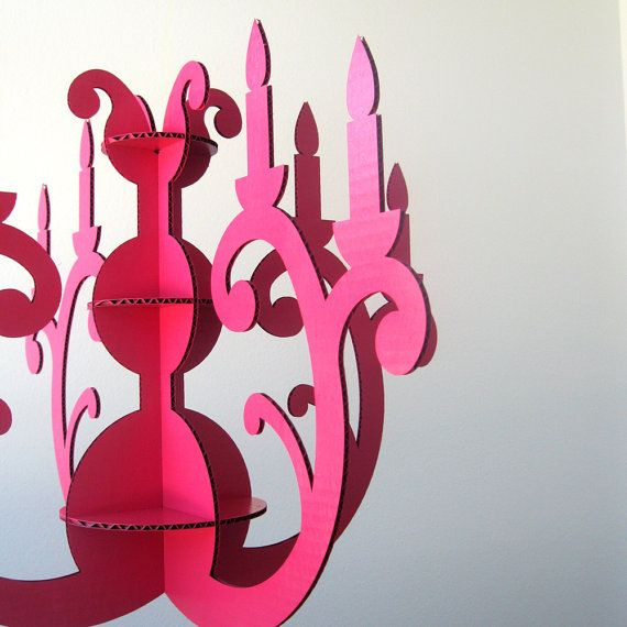 Custom Color Cardboard Chandelier. 100% recyclable and reusable. Laser cut. seequin/Etsy
