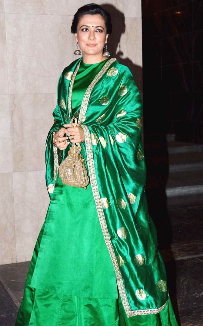 Mini Mathur at Masaba Gupta, Madhu Mantena's wedding reception. #Bollywood #Fashion #Style #Beauty #Hot #Desi #WAGS