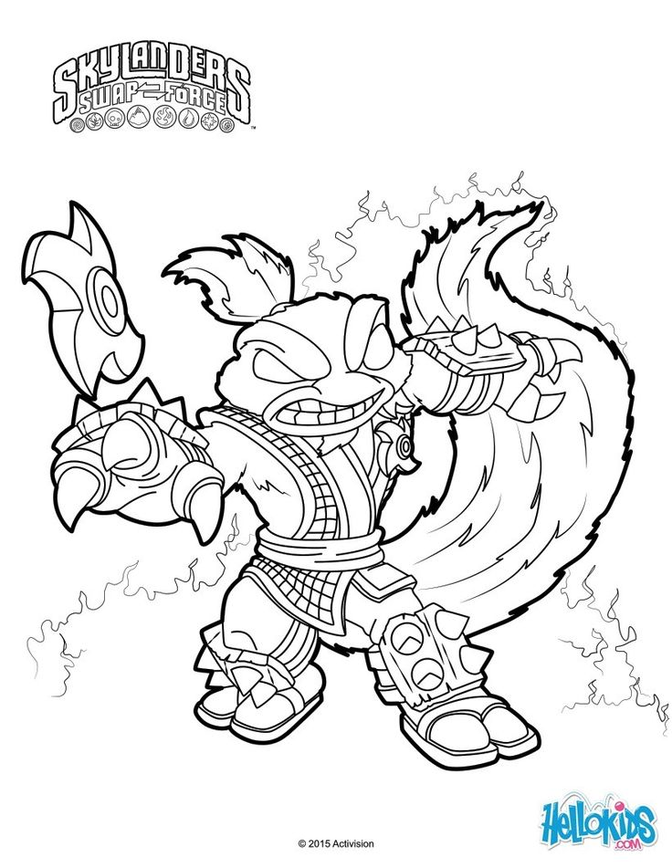 stink bombskylanders trap team master of kung fume is ready to help save the day try coloring your favorite skylanders from the skylandrs trap team - Coloring 4 Kids