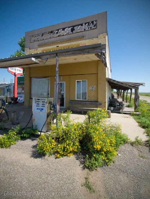 Okaton, South Dakota is just off Interstate 90, about forty miles southwest of Pierre, and it is a unique breed of town — part near-ghost town, part abandoned roadside attraction.