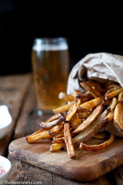 Beer Soaked Oven Fries -  Salt options are limitless including  Truffle salt, Mayan or black lava salt