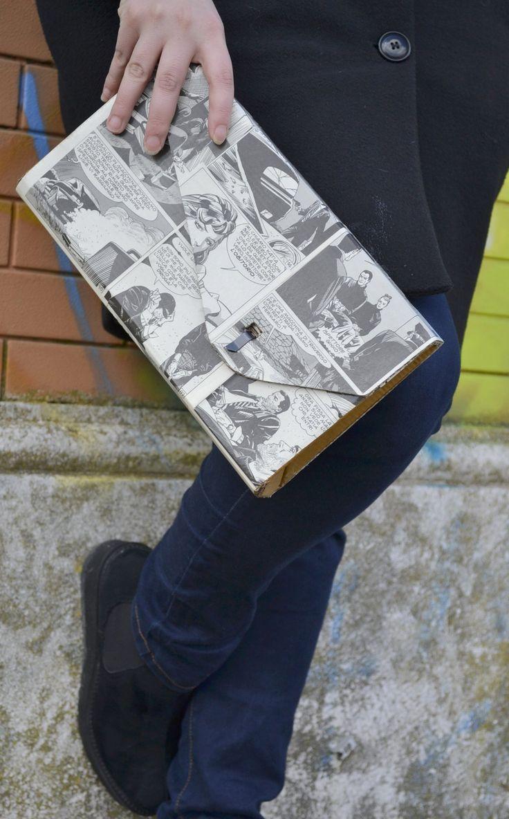 Pochette in cartone e fumetti ricilati made in ScartuP