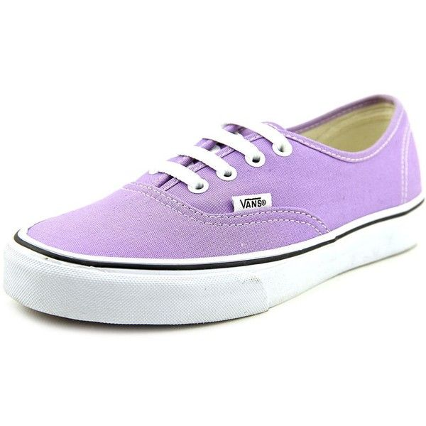 Vans Authentic Women Skate Shoes ($32) ❤ liked on Polyvore featuring shoes, sneakers, purple, traction shoes, vans trainers, vans footwear, purple skate shoes and grip trainer