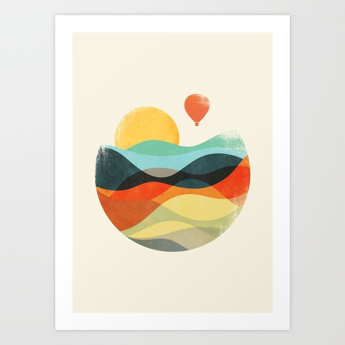 Let the world be your guide Art Print
