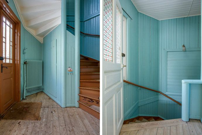 amazing hallway - Långö, Sweden (via the tiger and the house)