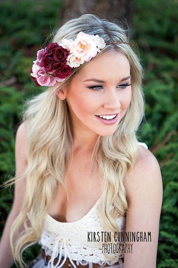 Beautiful Bridal 1/2 decorative floral crown new from The Beauty and the Beast Collection Customizable to your colour scheme