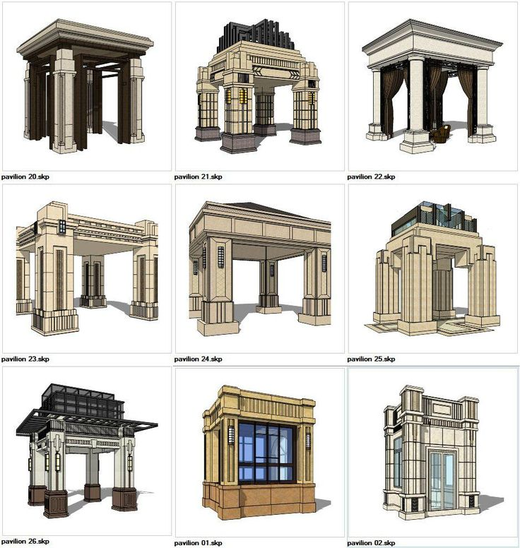 ★Sketchup 3D Models9 Types of Pavilion Design Sketchup