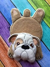 In The Hoop Flat Bull Dog Coaster Embroidery Machine Design - Newfound Applique
