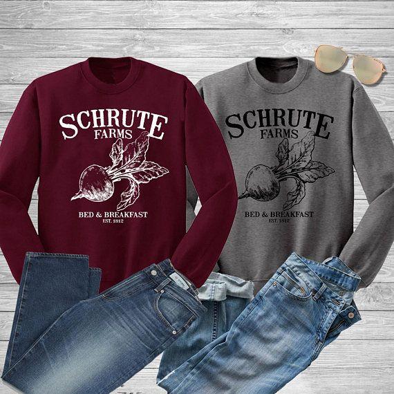 Schrute Farms Unisex Sweatshirt The Office Dwight Shrute Funny Farming Beets