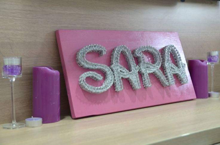 Personalized name : SARA  Dimensions : 20x50cm  #ARTEFACT . . .  #stringart #instaart #craft #handcrafted #dailyart #handmade #beautiful #motivation #wood #artist #woodworking #creative #art #artwork #sara #personalized #name #homedecor #decoration #gift #cadou #happygirl