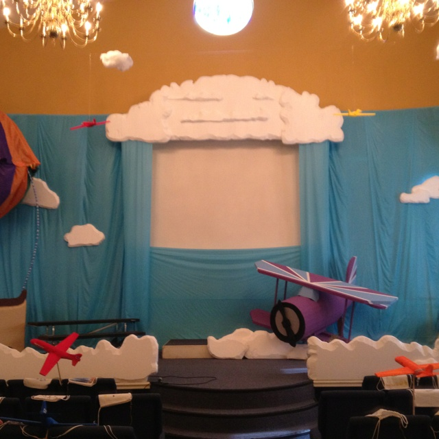 Sky vbs backdrop, stage idea