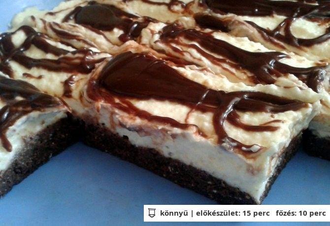 Túró rudi szelet sütés nélkül recept
