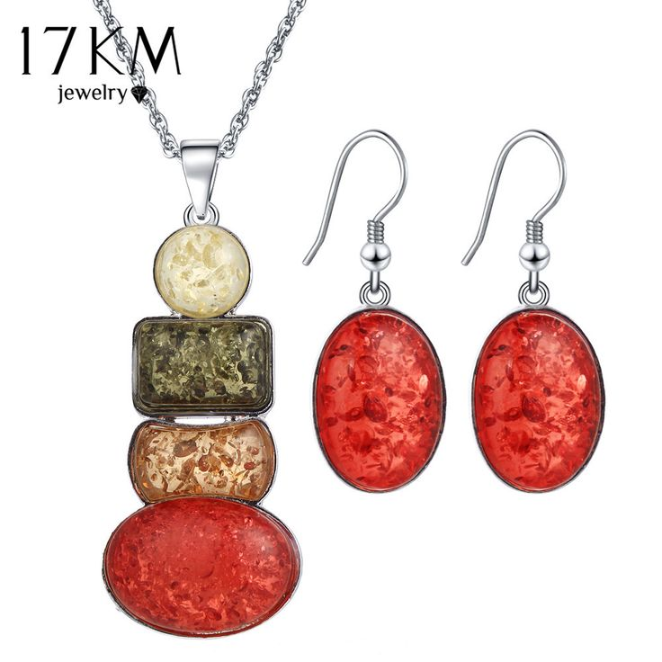 17KM New Jewelry Sets Necklace and Earring Set sieraden Sets parure bijoux femme African Necklace Jewelery Set