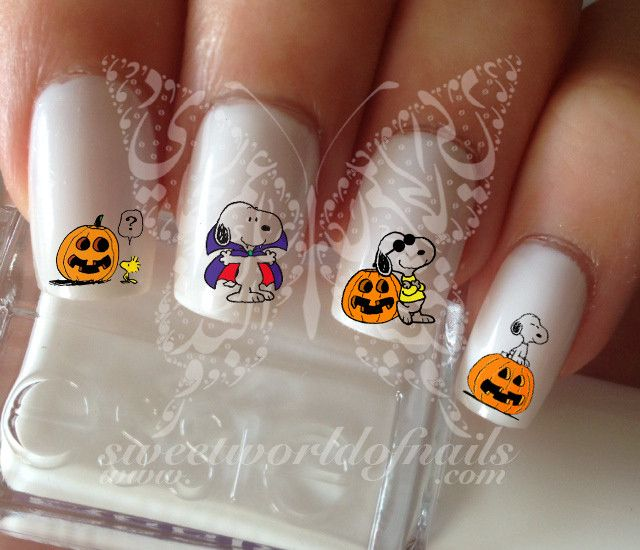 Snoopy Halloween Nail Art Nail Water Decals