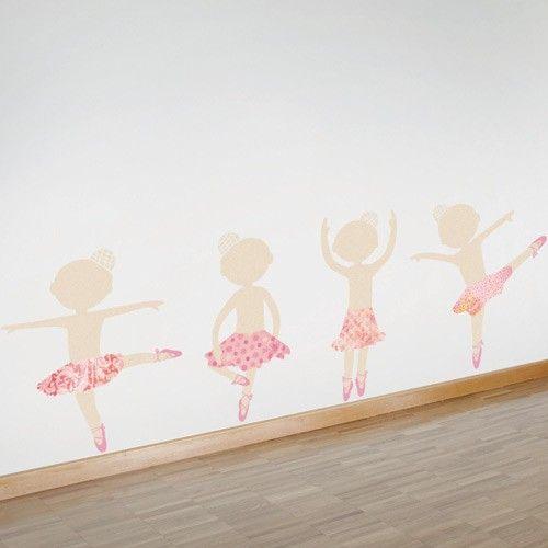 17 best ideas about little girl ballerina on pinterest for Ballerina wall mural