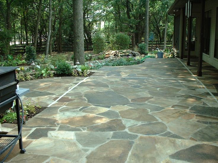 Flagstone is another good choice for a patio in your yard.