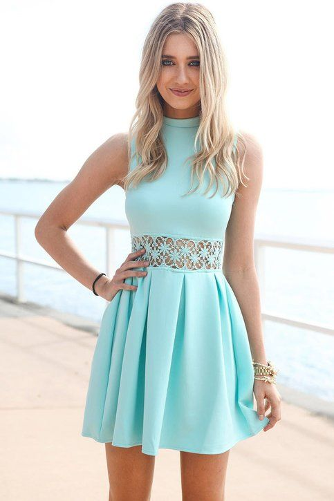 O-Neck A-Line Sleeveless Homecoming Dress,Short Prom Dress from Hot Lady