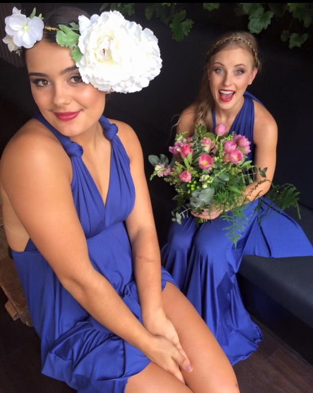 Our gorgeous girls rocking the flower crown with their Zeredah dresses. Zeredah Convertible Dresses available in Perth at Nora and Elle Bridesmaids.