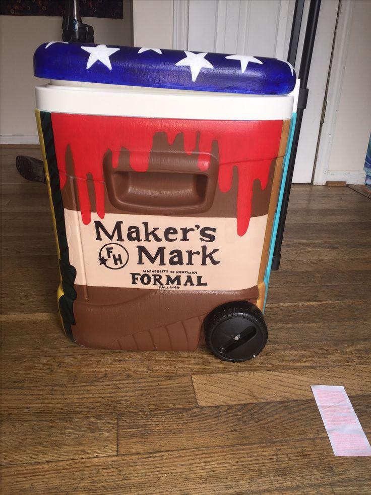 Farmhouse fraternity cooler frat formal makers mark