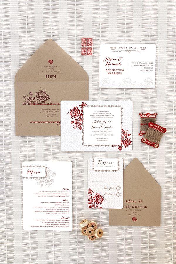 Ruby & Willow Wedding Stationery Bronte Suite - Warming Winter Wedding