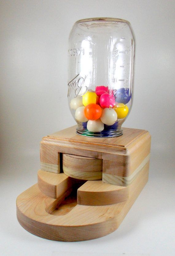 Gumball dispenser wooden candy machine by ImpulsiveCreativity, $50.00
