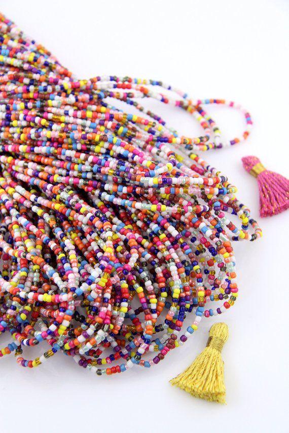 Fine Ghana Assorted African seed Beads Glass African Trade Beads-Ghana