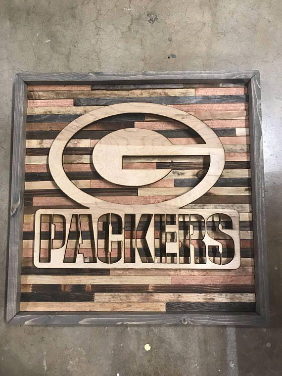 Rustic Sports Decor Green Bay Packers Wall Art Sports Decorations Green Bay Packers Wooden Wall Art