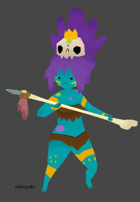Back when I was still working on the Huntress wizard model a friend suggested I try out Jungle princess as well. You guys I'm having so much fun modeling things it's hard to stopand I'm currently drawing blocked so I haven't been able to draw too much. But I'll keep trying to get back on it.