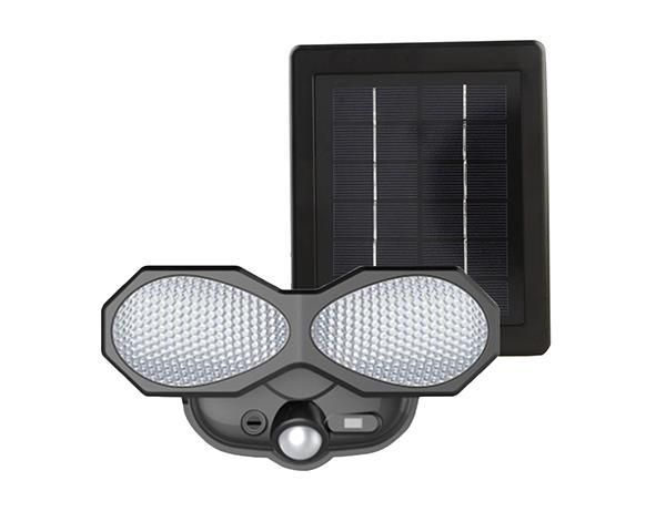 Current Solar Flood Light - Pir Detection - Plastic - 400 LumensSolar Powered flood light Plastic fixture with plastic lens.  SMD white LEDs.  Amorphous solar panel.  400mAH AA Ni-CD recharge battery pack  (non-replaceable).  ON/OFF switch.  400 lumens for 20 minutes thereafter light gradually dims.https://www.shoptodrop.co.za/product/current-solar-flood-light-pir-detection-plastic-400-lumens/