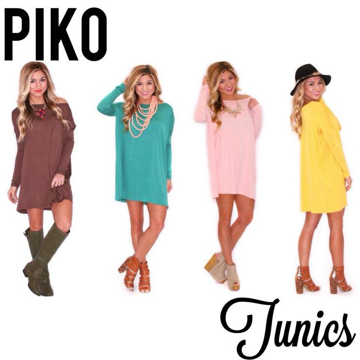 Current obsessions: Piko Tunics! Shop all the colors at www.shopimpressions.com!