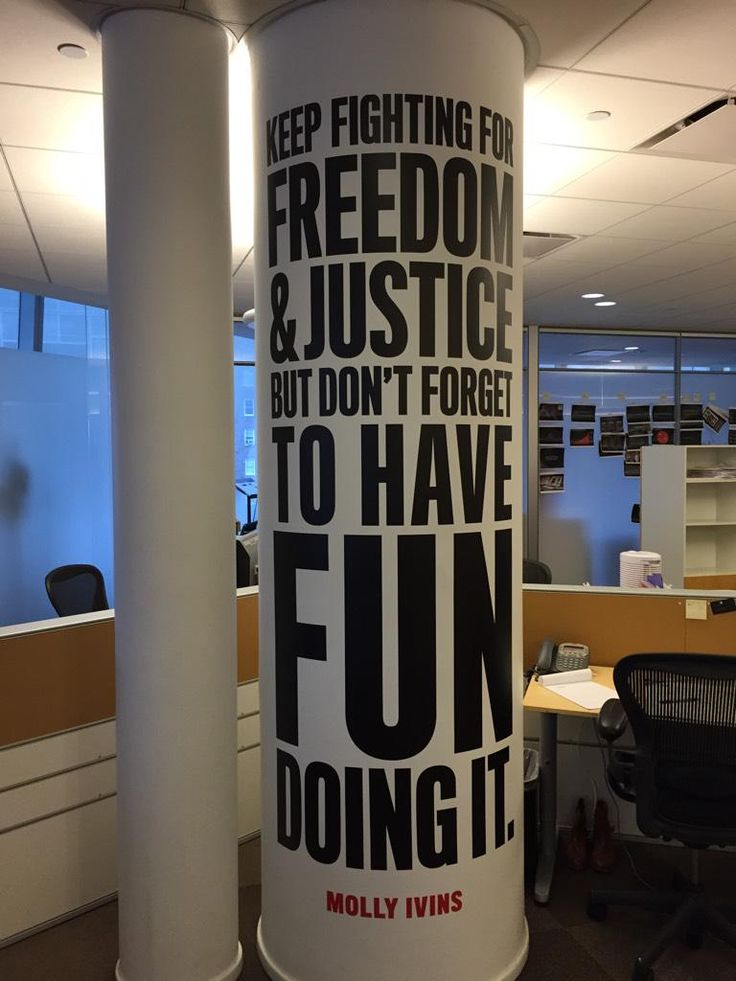 Love this Molly Ivins quote we added to @thedailybeast newsroom -