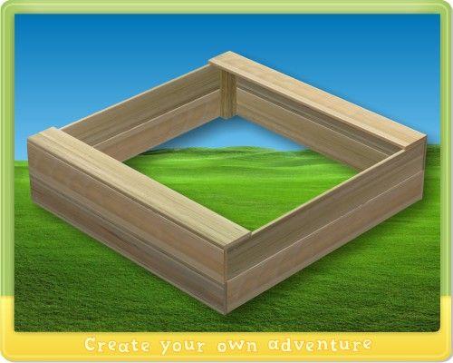 Sandkasten mit sitzrand 150x150cm, 30cm hoch