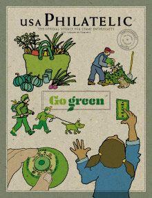 Selos Postais Verdes -EUA: Postais Verdes, Verd Eua, Postai Verd, Verdes Eua, Selo Postai, Selos Postais