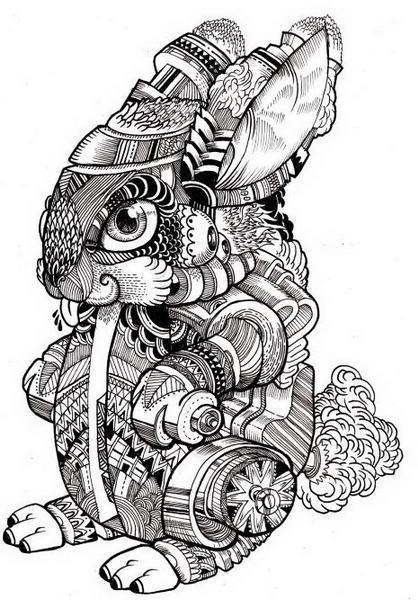 macarthur 插画 黑白