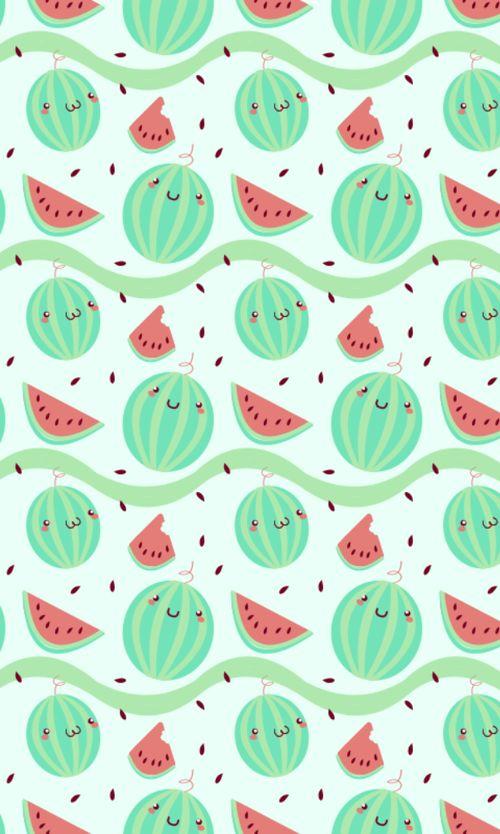Kawaii Watermelon Wallpaper.
