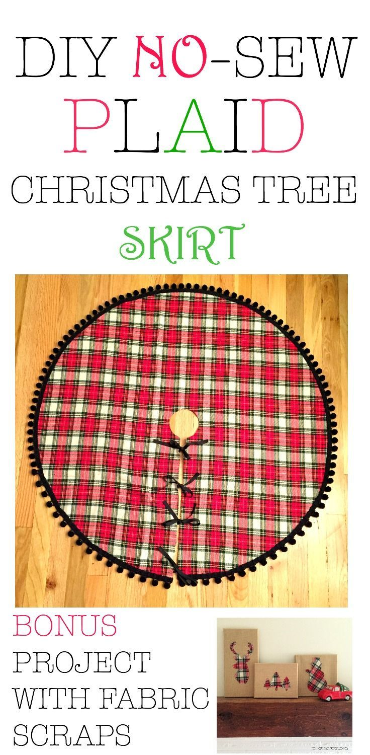 Looking for a cheap and easy DIY craft? This super easy DIY Christmas tree skirt will make your tree look festive and amazing. The no sew tutorial is quick and easy to follow. A fast and simple Christmas DIY craft. Would make a great gift as well.