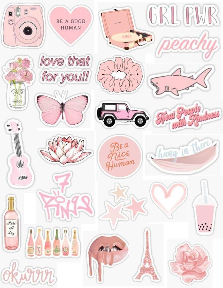 Tumblr Wallpapers – Pink Stickers 2 – #pink #Stick…