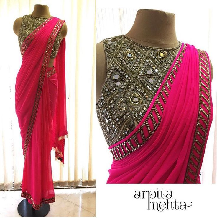 Arpita Mehta # saree # mirror work # Indian fashion #