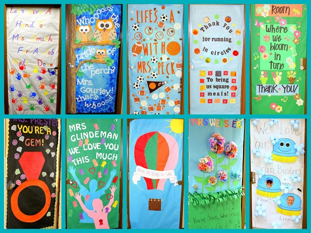 Classroom Design For Recognition ~ Best images about teacher appreciation doors on