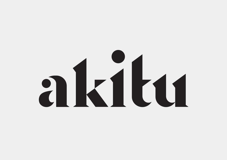 Inhouse | Akitu Akitu (apex/summit/success) is a winery from a high glacial valley in the South Island of New Zealand. A strong diagonal edge between the 'k-i-t' letterforms creates an edge that is suggestive of both a mountain-side and the sloping terrain of the property itself.