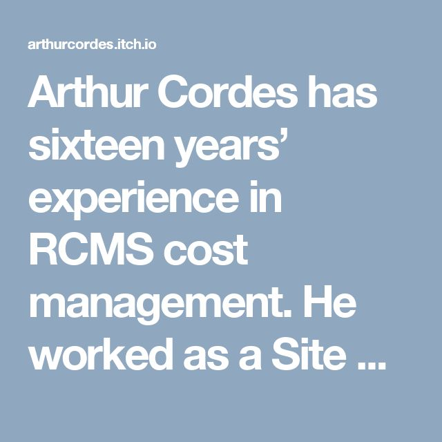 Arthur Cordes has sixteen years' experience in RCMS cost management. He worked as a Site Security Officer on many projects and has excellent working knowledge of OSHA H&S regulations. He is also experienced in using field screening instrumentation, including organic vapor analyzers, Lumex, combustible gas indicators, and toxic gas meters.