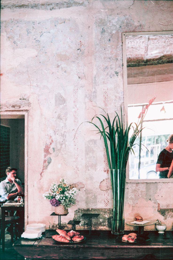 Fioraio Bianchi Milano, Florist, Milan, Italy, Coffee shop, Cafe, Vintage, Flowers, Canon, Film, 35mm