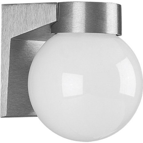 Check out the progress lighting cast aluminum 1 light wall fixture in satin find this pin and more on home outdoor