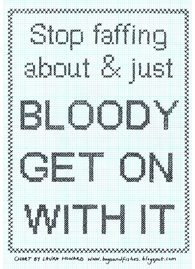 Bugs and Fishes by Lupin: DIY Cross Stitch Sampler: Stop Faffing About & Just Get On With It