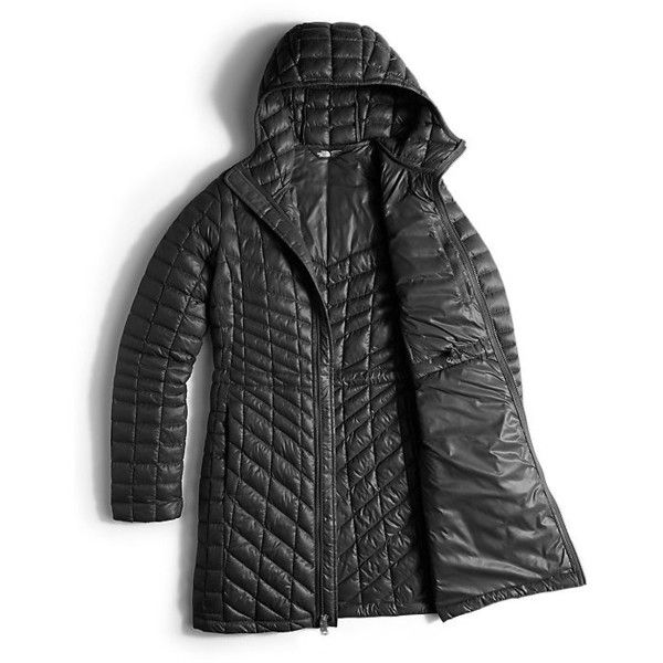 The North Face Women's Thermoball Hooded Down Parka Coat ($161) ❤ liked on Polyvore featuring outerwear, coats, faux coat, insulated coat, hooded coat, hooded parka coat and hooded parka