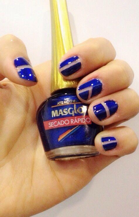 Blue nails #masglo