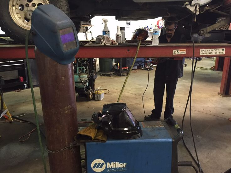 How many welding hoods do you need to make one weld? #miller #welding #axleboy #mechanic #jeepshop #STL #stpeters